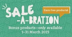 Saleabration bonus banner