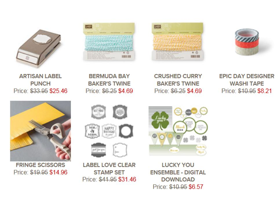 Weekly Deals till 10th March, Artisan Punch, Label Love, Fringe Scissors, Epic Day Washi tape