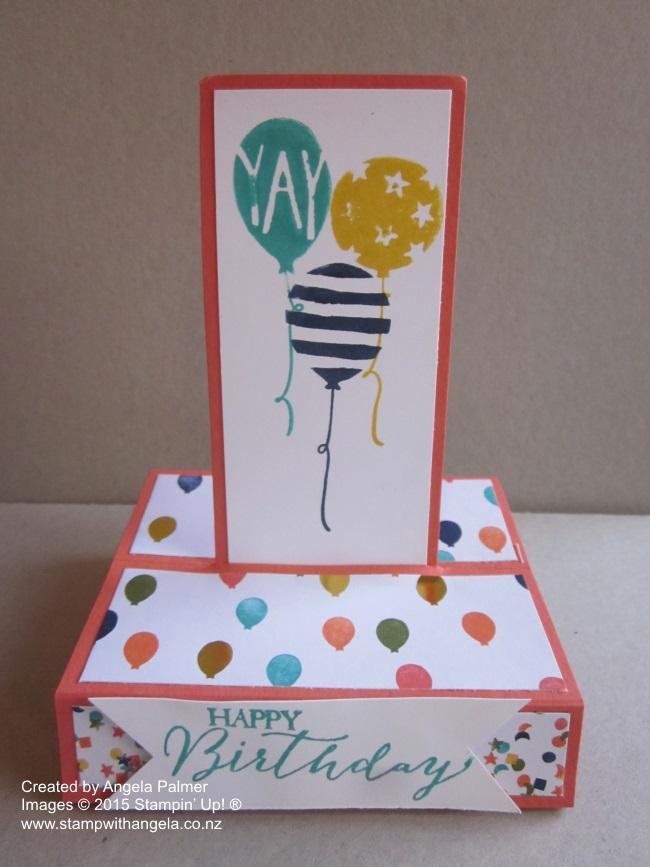 Balloon Bash Stand Up Card