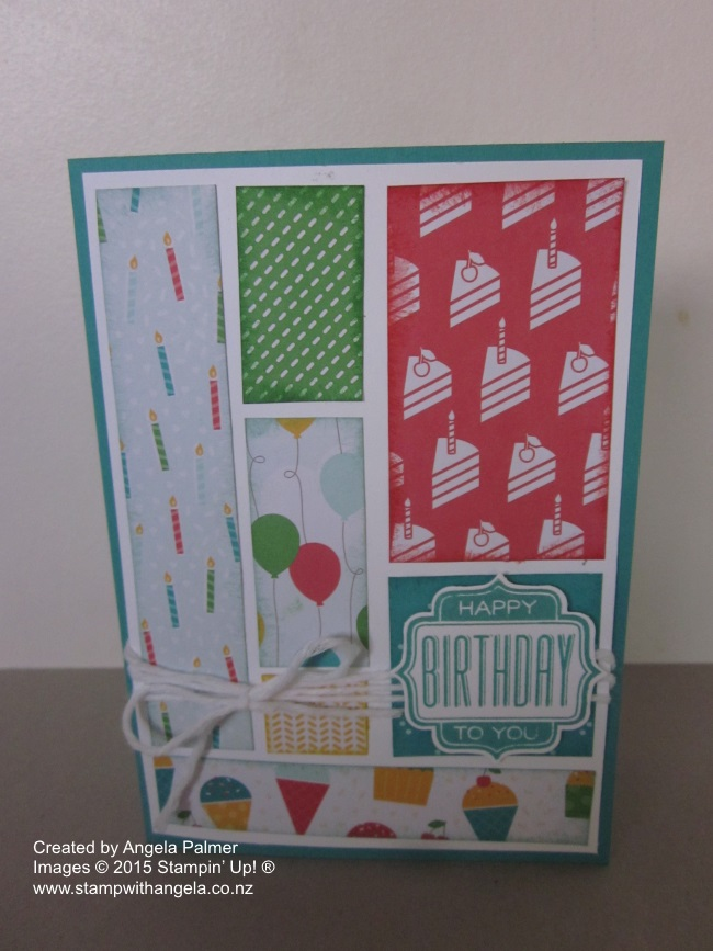 Cherry on Top Card using up scraps