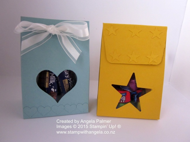 Gift Bag Punch Bag heart and star window