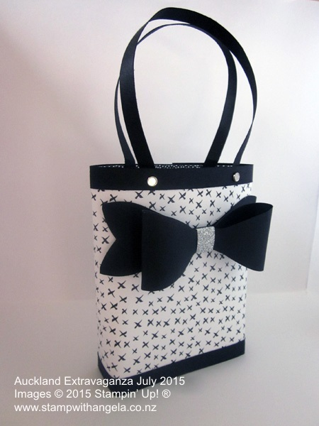 Tiffany Gift Bag featuring Everyday Chic Designer Series Paper and Gift Bow Bigz L die,