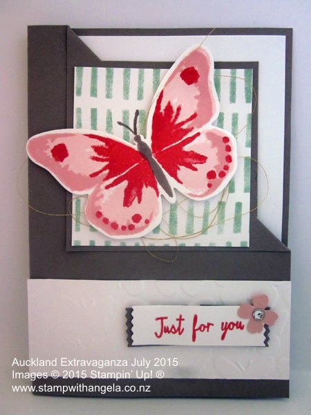 Extravaganza Watercolor Wings Flip Corner Card