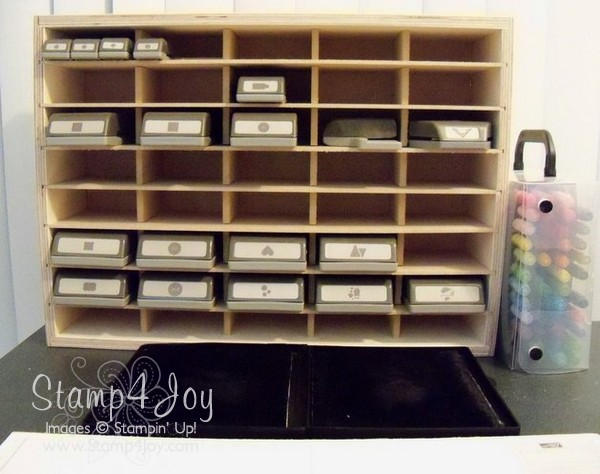 Stampin up, storing punches, punches, storage, shelves
