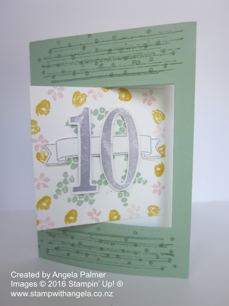 Pop Out Swing Card, Number of Years,