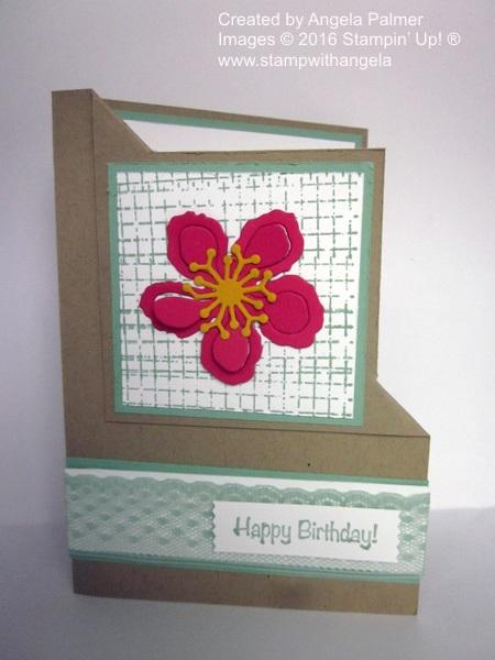 Botanical Builder, Botanical Blooms, Corner Flip Card, flower die