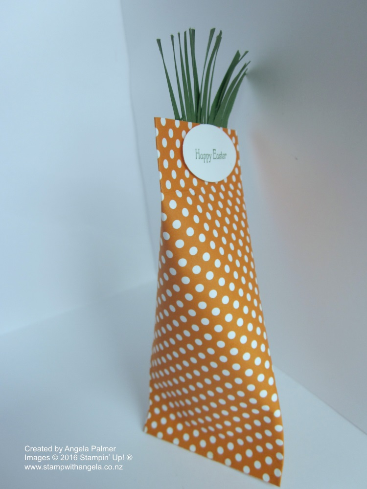 Carrot shaped Easter treat bag,