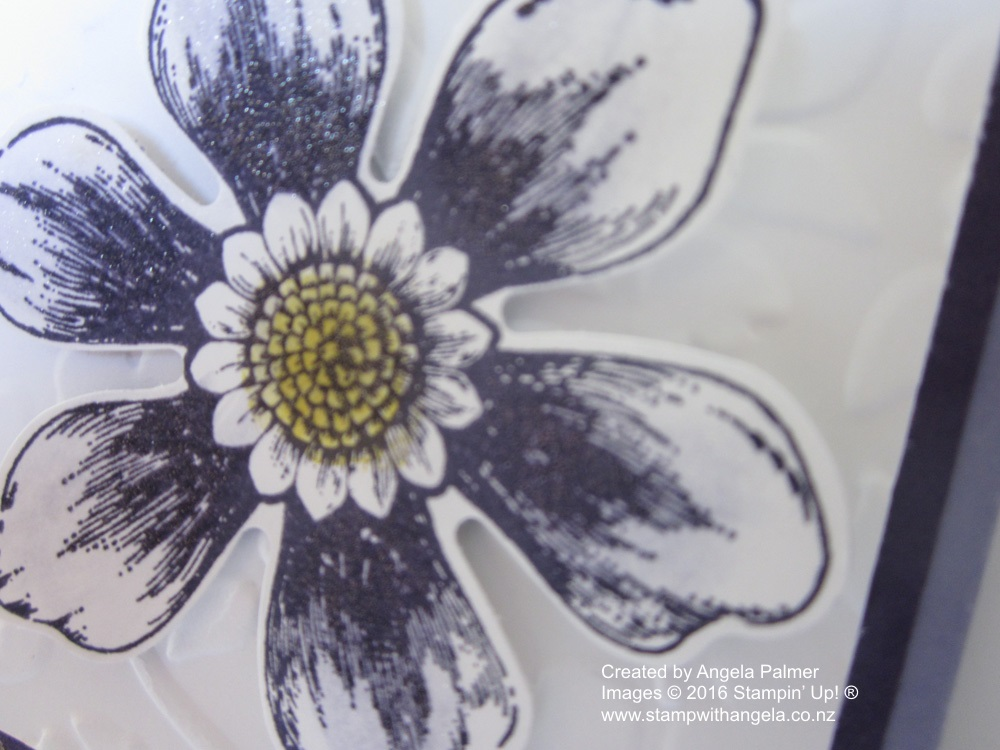 Blossom Bunch Corner Fold Card Close Up Flower