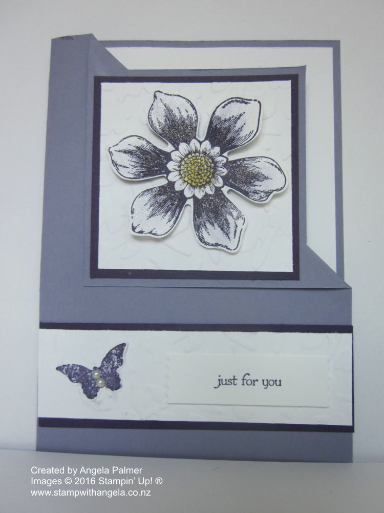 Blossom Bunch Corner Fold Card with Wink of Stella