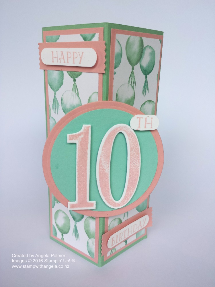 Stand Up Box Card, Balloons