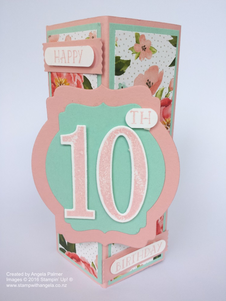 Stand Up Box Card Deco Label Die, Birthday Bouquet, Flowers,