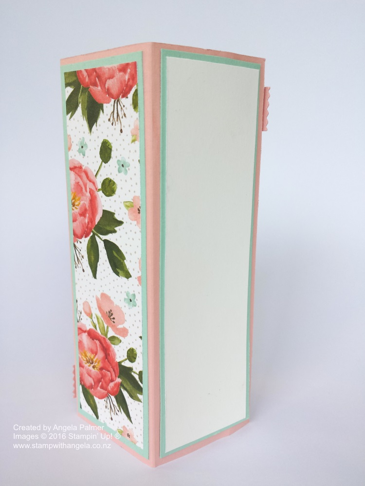 Stand Up Box Card back view, Stand Up Box Card Deco Label Die, Birthday Bouquet, Flowers,