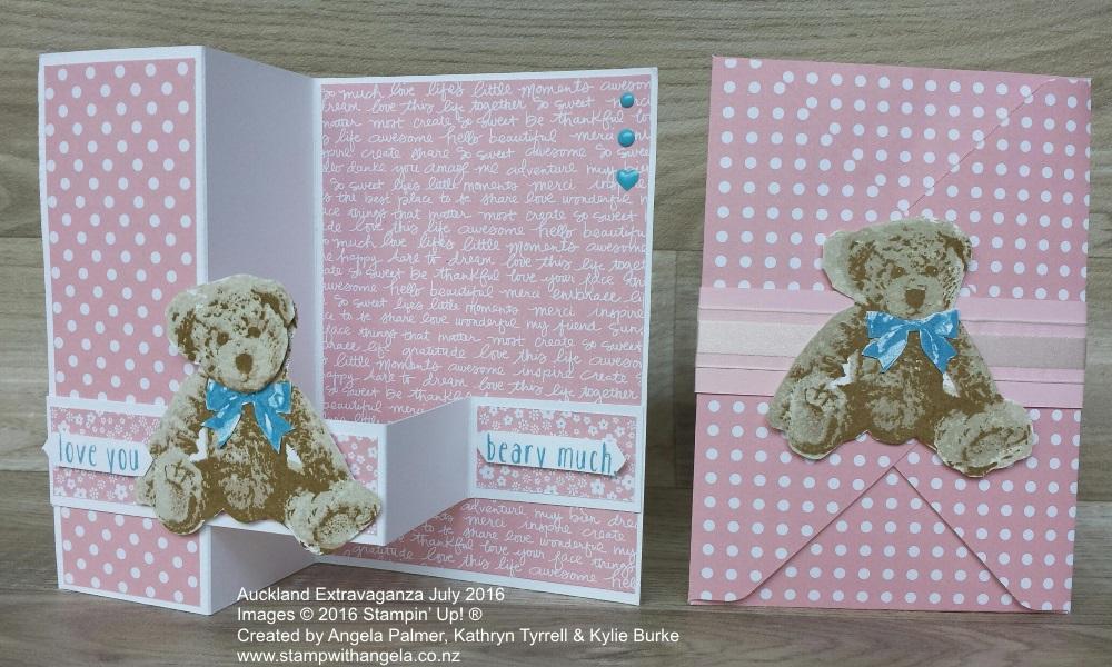 Baby Bear Z Fold Card
