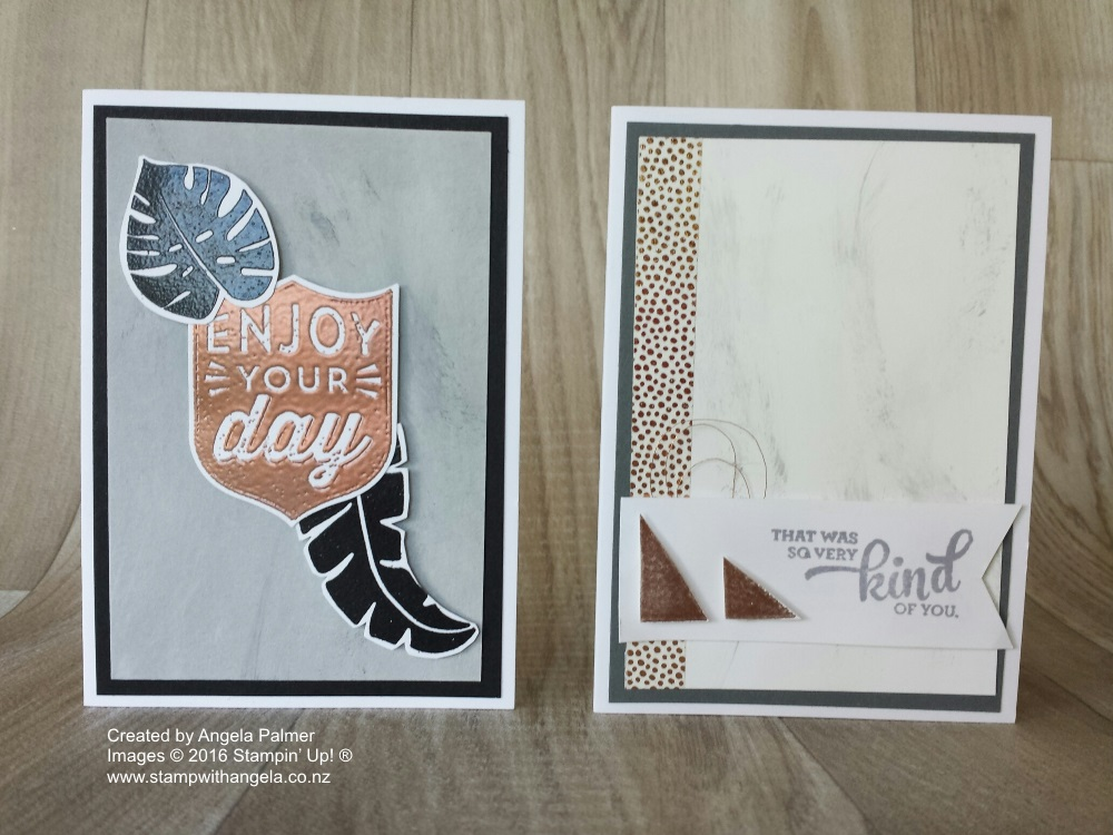 Marble Effect & Copper Embossing Note Cards