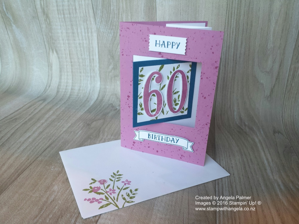 60th Pop Out Swing Card