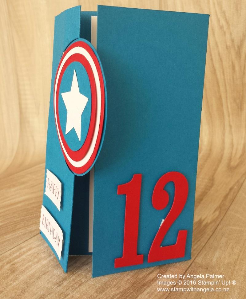 Captain America Shield Circle Flip Card