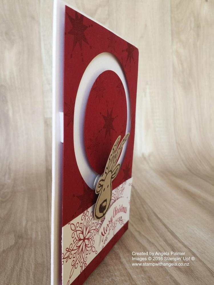 Reindeer Spinner Card - Side View
