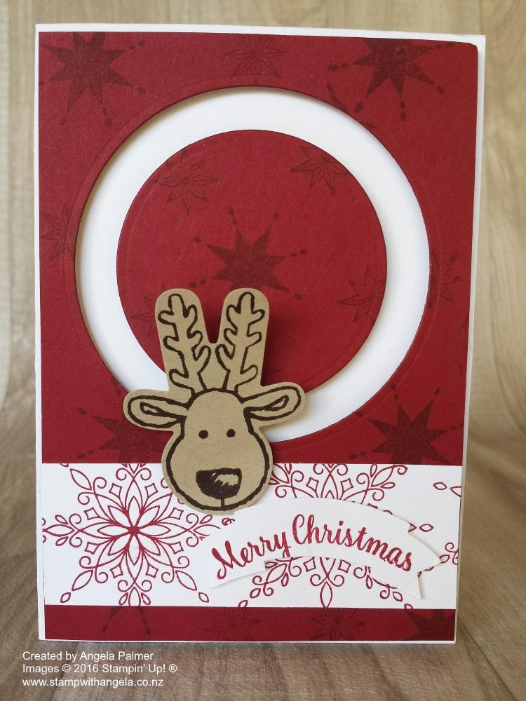 Reindeer Spinner Card