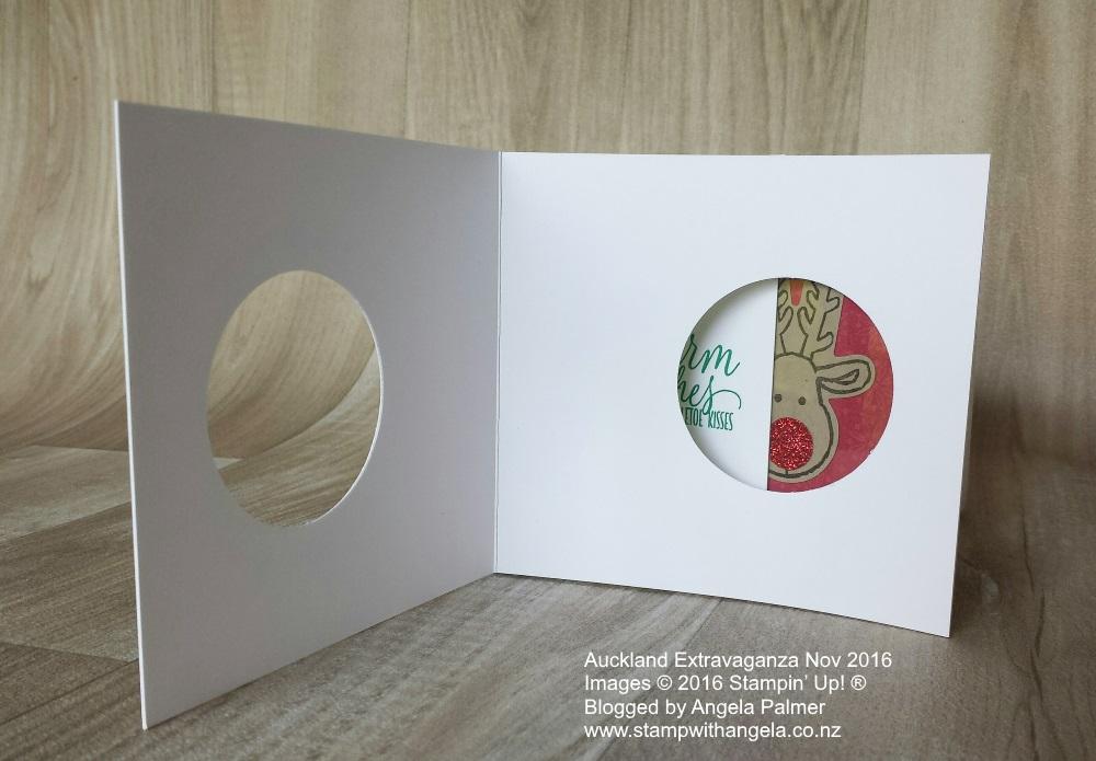 Extravaganza, Cookie Cutter, Peek a Boo Card, Unique fold Christmas card, inside
