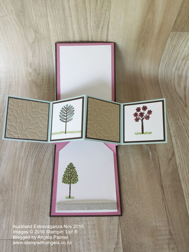 Extravaganza, Totally Trees, Pop Up Card, Unique fold Christmas card, inside