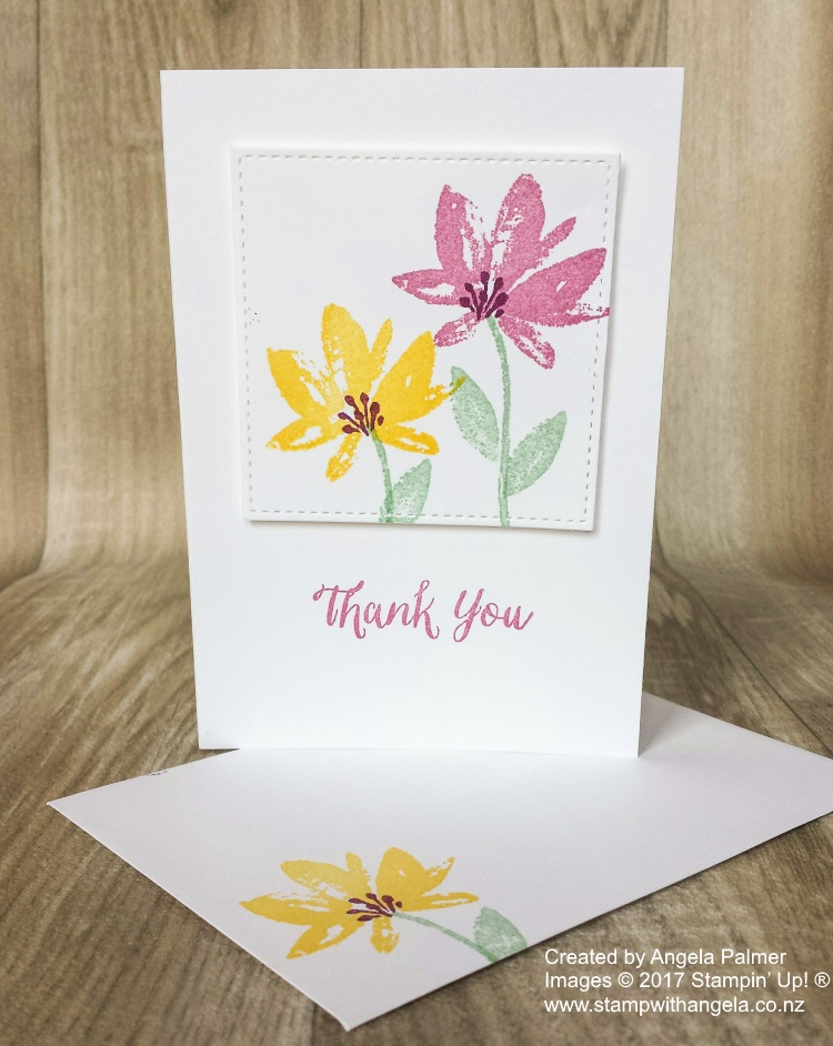 Avant Garden Thank You Note Card