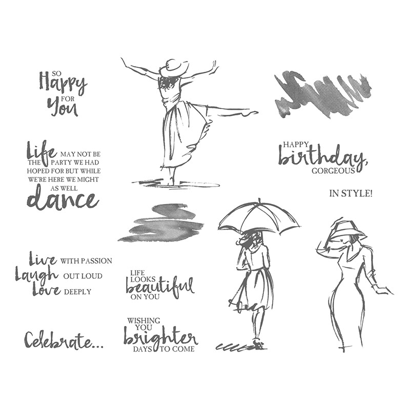favourite five stamp sets, Beautiful You Stamp Set