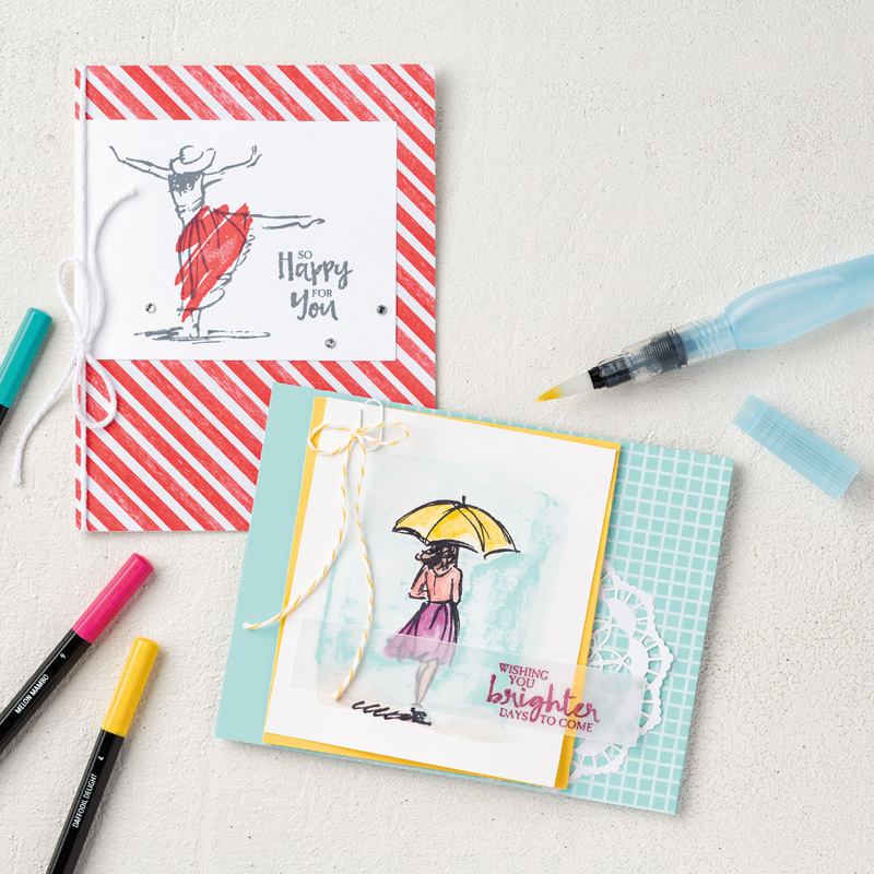 Beautiful You Card Samples by Stampin' Up!