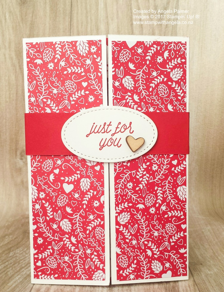 Sending Love Gate Fold Shutter Card