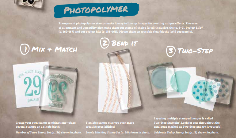 how to use Stampin' Up stamps, photopolymer