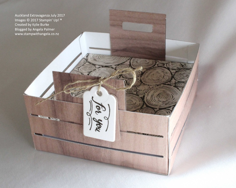 Altered Crate Memo Box using Wood Crate Dies