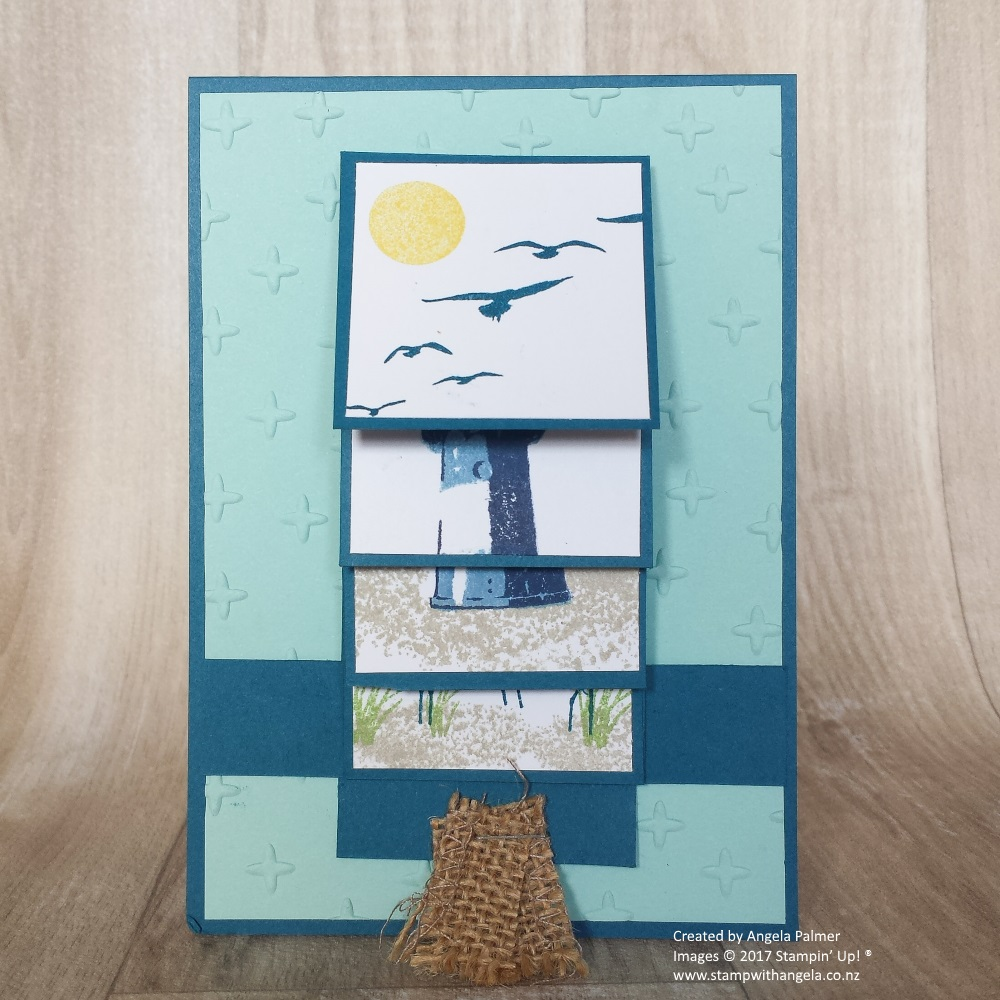 waterfall card, high tide