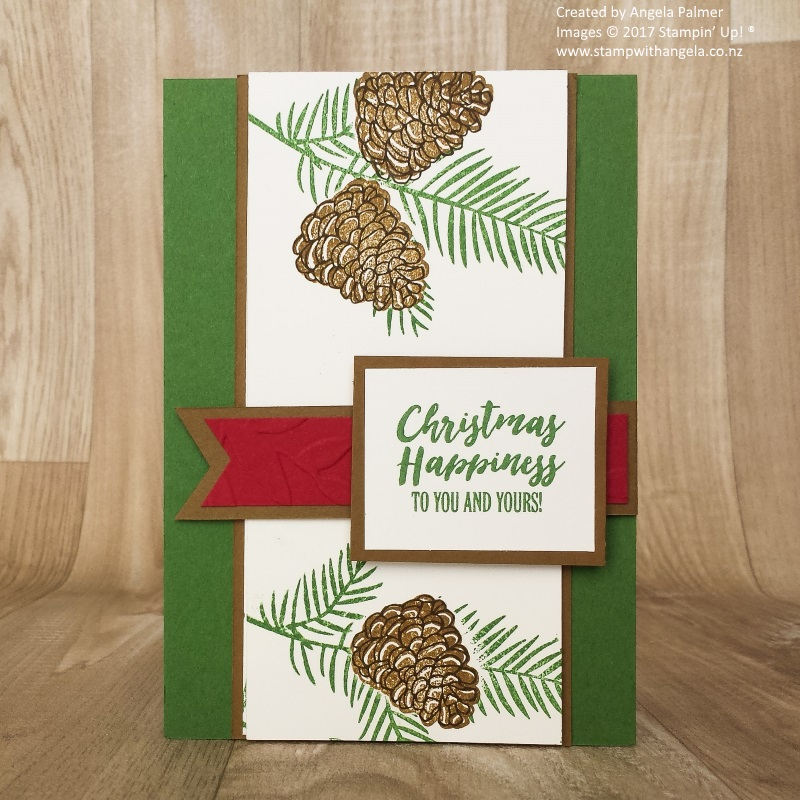 Two way fold card Christmas Happiness front