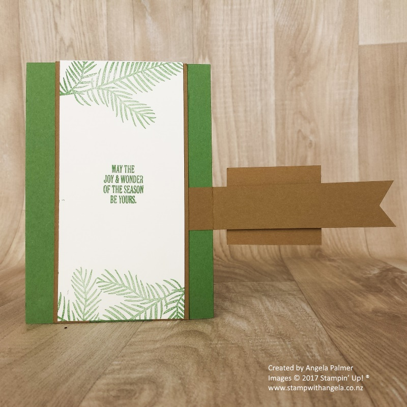 Two way fold card Christmas Happiness inside