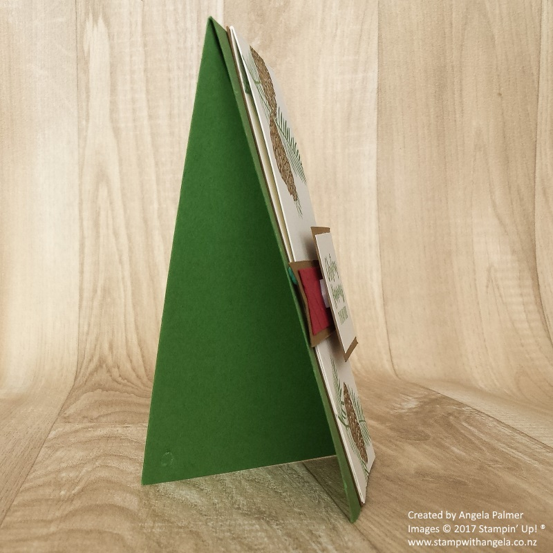 Two way fold card Christmas Happiness stad