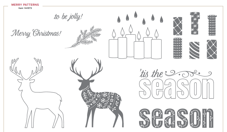 Merry Patterns, free stamp set