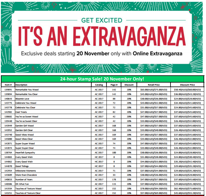 Online Extravaganza 24-hour flash sale 20th November