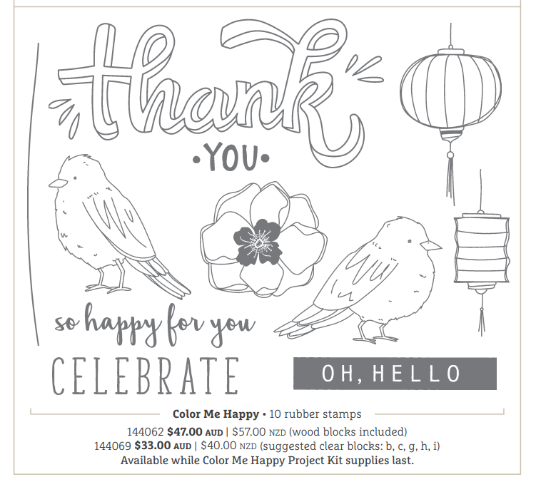 Colour Me Happy Project Kit Stamp Set