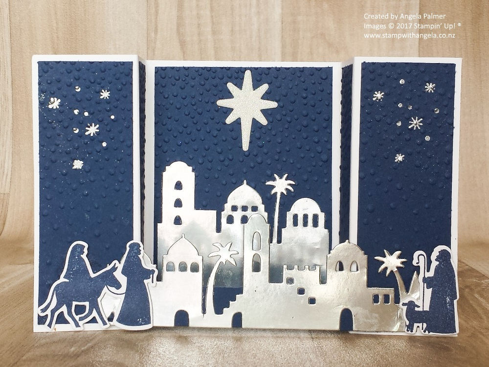Night of bethlehem bridge fold card