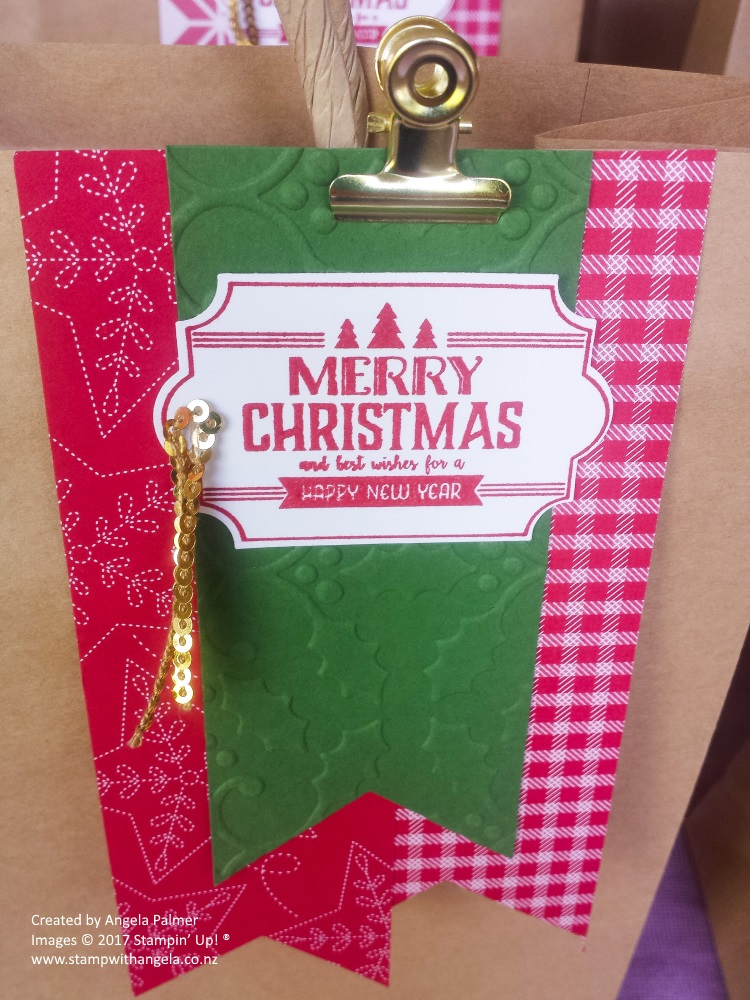 Decorated Gift Bag Tag