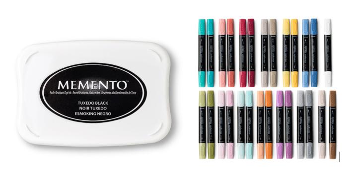 Black Ink - Memento Ink with Stampin' Blends
