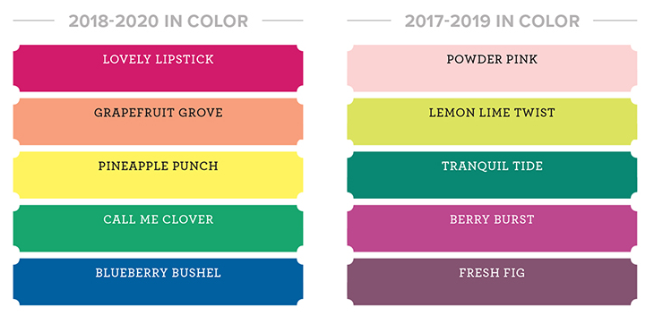 In Colors 2018-2020, colour revamp