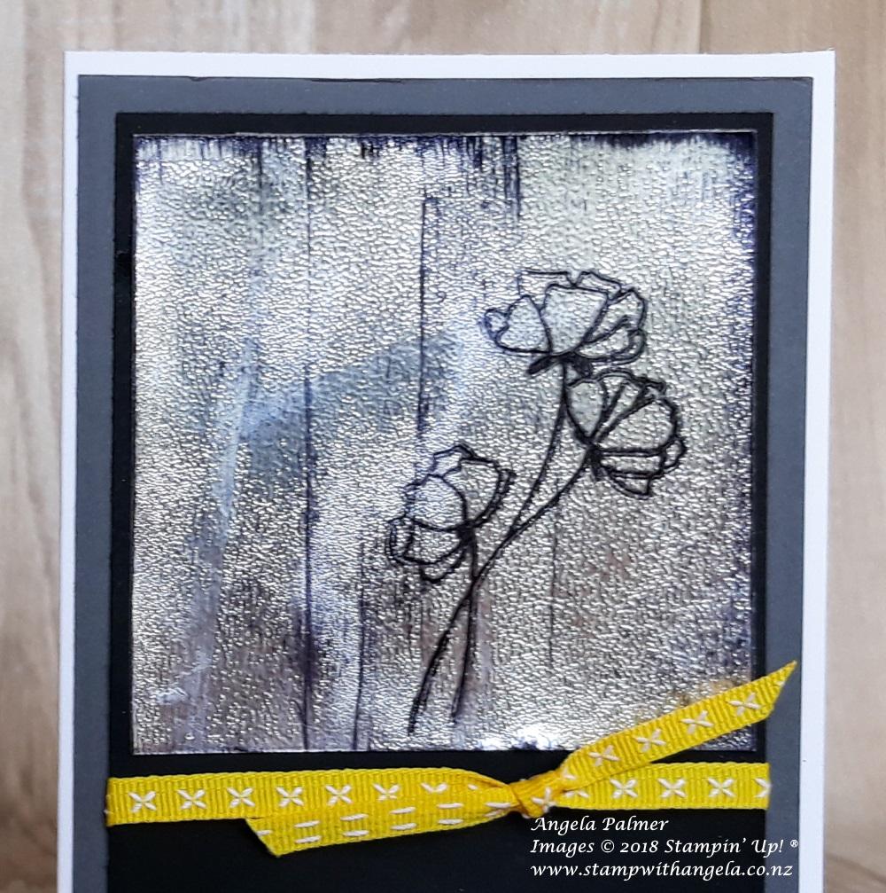 Black Ice Technique - Flowers