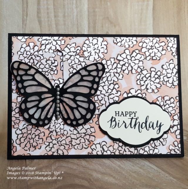 butterfly interactive opening card, front