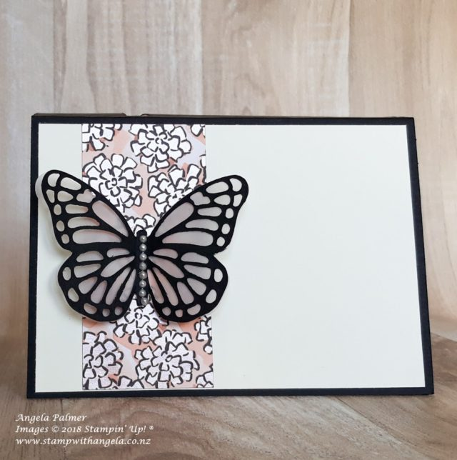 butterfly interactive opening card, inside