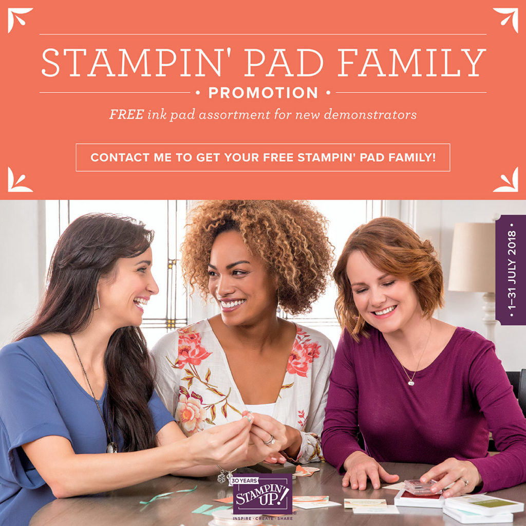 free ink pads, Join my team, ink pad assortment