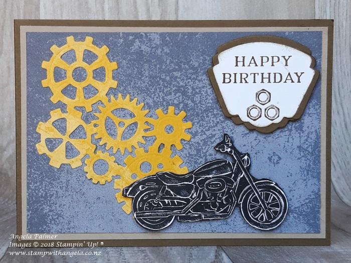 Motorbike card, Geared Up Garage