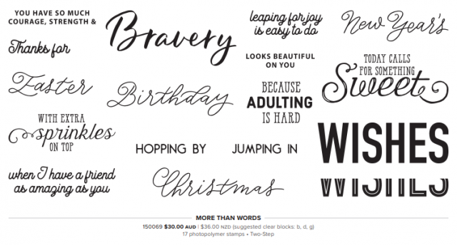 Sale-A-Bration coordination products, More than words stamp set